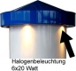 Mobile Preview: Halogenbeleuchtung 6x20 Watt nach IP 65